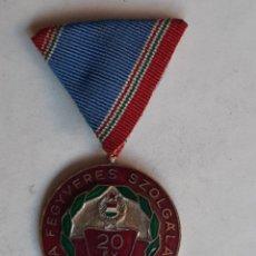 Militaria: MEDALLA MILITAR HUNGRIA.. 20 AÑOS SERVICIO MILITAR. Lote 203998818