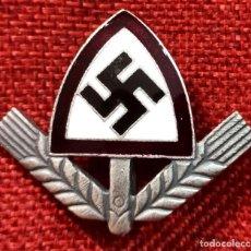 Militaria: INSIGNIA RAD CAP BADGE. MÜTZENABZEICHEN. MEDIDAS: 45 X 40 MM - REICHSARBEITSDIENST. Lote 204441518