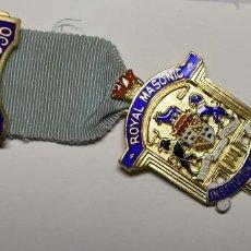 Militaria: MEDALLA MASONICA INGLESA PLATA MACIZA.FUNDACION STEWARD PARA CHICOS DE 1938.EXTRAORDINARIO ESTADO. Lote 204530697