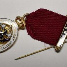 Militaria: MEDALLA MASONICA INGLESA PLATA MACIZA.FUNDACION STEWARD PARA CHICOS DE 1920.EXTRAORDINARIO ESTADO. Lote 204599175