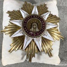 Militaria: CONDECORACIÓN ORDEN DE SANTA MARIA DE CASTELO - PORTUGAL - ESTRELLA DE COMANDANTE - PLATA 925 - 82 G. Lote 204610875