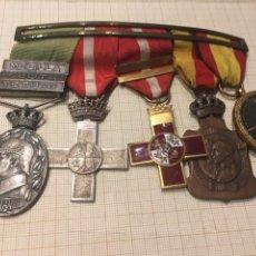 Militaria: CONJUNTO PASADOR 5 MEDALLAS ALFONSO XIII Y EPOCA DE FRANCO. Lote 205005216