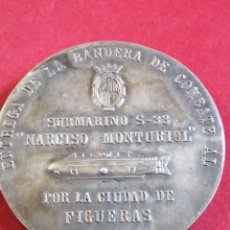 Militaria: ENTREGA DE LA BANDERA DE COMBATE AL SUBMARINO NARCISO MONTURIOL LA CIUDAD DE FIGUERES 1974. Lote 205083756