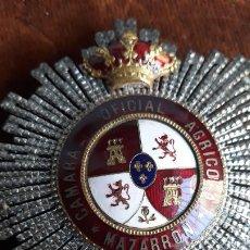 Militaria: MEDALLA CAMARA OFICIAL AGRICOLA DE MAZARRON, AL TENIENTE GENERAL MIGUEL ABRIAT CANTO,DOCUMENTADA. Lote 205124018