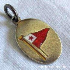 Militaria: MEDALLA DE PLATA, BANDERA ESTRELLA ROJA LACADA 1902 - 1928. Lote 205308580