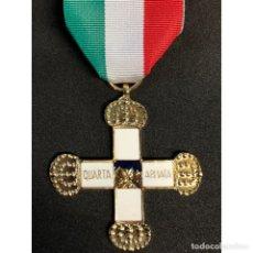 Militaria: MEDALLA CRUZ CONMEMORATIVA DEL 4º EJERCITO ITALIA FASCISTA MUSSOLINI REGIO ESERCITO. Lote 259045155