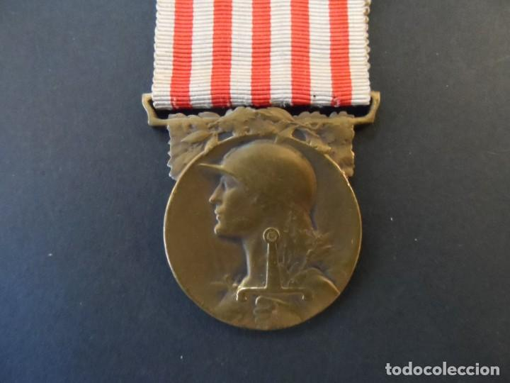 MEDALLA CONMEMORATIVA DE LA GRAN GUERRA 1914 1918. REPUBLICA FRANCESA. BRONCE. SIGLO XX (Militar - Medallas Extranjeras Originales)