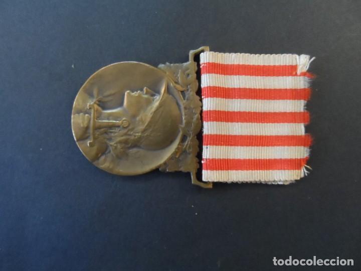 Militaria: MEDALLA CONMEMORATIVA DE LA GRAN GUERRA 1914 1918. REPUBLICA FRANCESA. BRONCE. SIGLO XX - Foto 5 - 205399730