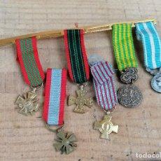 Militaria: MEDALLA MILITAR PASADOR MINIATURA GUERRA MUNDIAL FRANCIA ORIGINAL. Lote 205699952