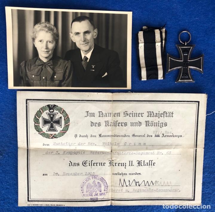 MEDALLA CRUZ DE HIERRO 2 CLASE Y DOCUMENTO CONCESIÓN (Militar - Medallas Extranjeras Originales)