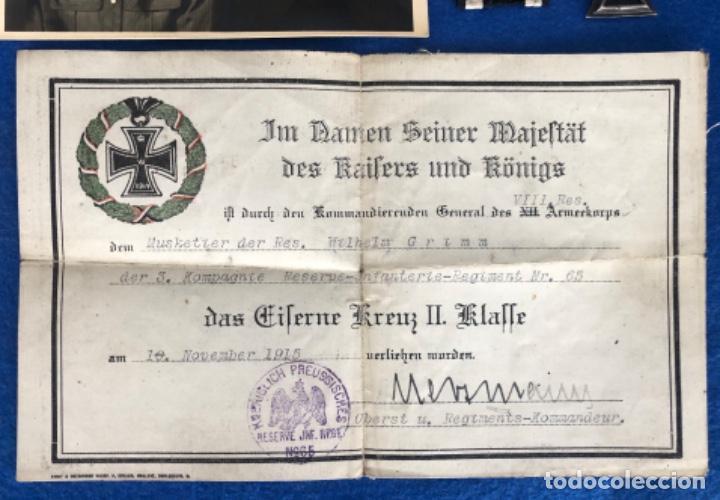 Militaria: Medalla Cruz de hierro 2 clase y documento concesión - Foto 2 - 205751651