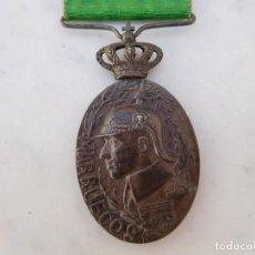 Militaria: MEDALLA DE LA CAMPAÑA DE MARRUECOS CON PASADOR DE LARACHE ALFONSO XIII PLATA. Lote 206127851