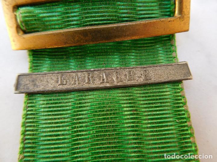 Militaria: Medalla de la campaña de Marruecos con pasador de Larache Alfonso XIII Plata - Foto 6 - 206127851