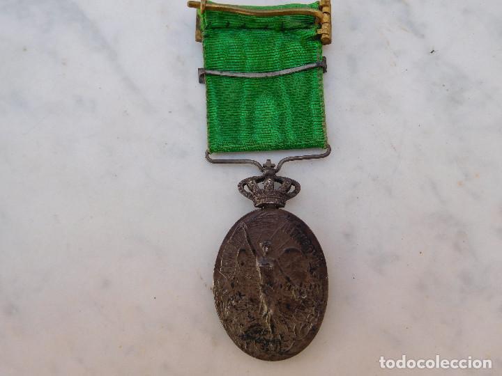 Militaria: Medalla de la campaña de Marruecos con pasador de Larache Alfonso XIII Plata - Foto 7 - 206127851
