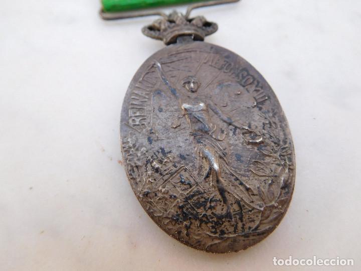 Militaria: Medalla de la campaña de Marruecos con pasador de Larache Alfonso XIII Plata - Foto 9 - 206127851