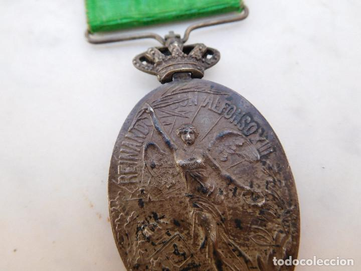 Militaria: Medalla de la campaña de Marruecos con pasador de Larache Alfonso XIII Plata - Foto 10 - 206127851