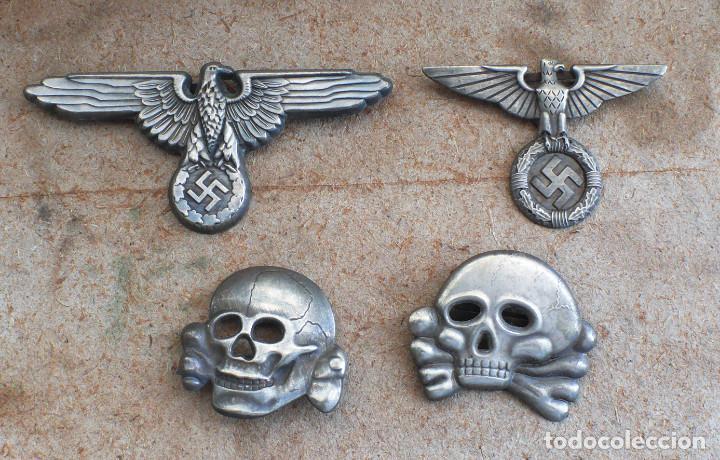 LOT.WW2 ÁGUILA Y DEL CALAVERA TOTENKOPF SS1923-1934. PARA GORRA DE PLATO (Militar - Reproducciones y Réplicas de Medallas )