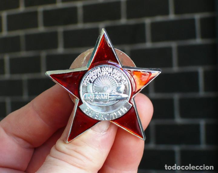 Militaria: medalla ORDEN por méritos. Unión de Veteranos de Afganistán RUSIA SOVIETICA URSS - Foto 2 - 206449390