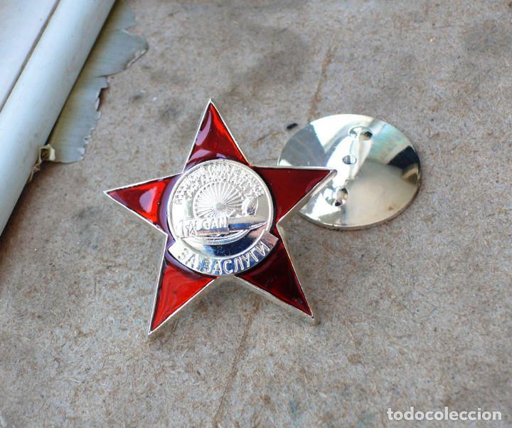 Militaria: medalla ORDEN por méritos. Unión de Veteranos de Afganistán RUSIA SOVIETICA URSS - Foto 4 - 206449390