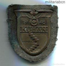 Militaria: ALEMANIA III REICH. PLACA DE KUBAN. HIERRO DORADO. COMPLETA CON LA PLACA Y LA TELA DEL REVERSO. KUBA. Lote 206469265
