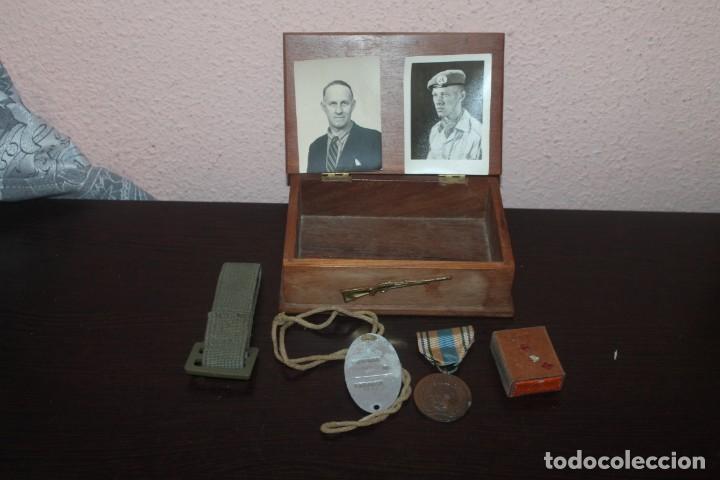 Militaria: lote de una caja unef danor-bn gaza con 2 fotos 1 medalla 1 placa 1 caja de cerilla de piel - Foto 3 - 206479361
