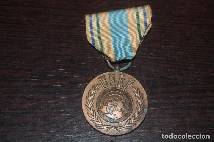Militaria: lote de una caja unef danor-bn gaza con 2 fotos 1 medalla 1 placa 1 caja de cerilla de piel - Foto 5 - 206479361