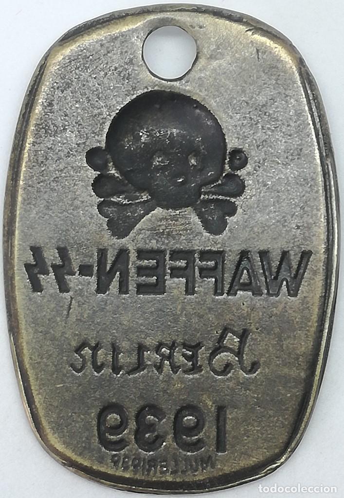 Militaria: RÉPLICA Chapa de identificación Waffen SS Berlin 1939. Alemania. 1939-1945. II Guerra Mundial - Foto 2 - 206846582