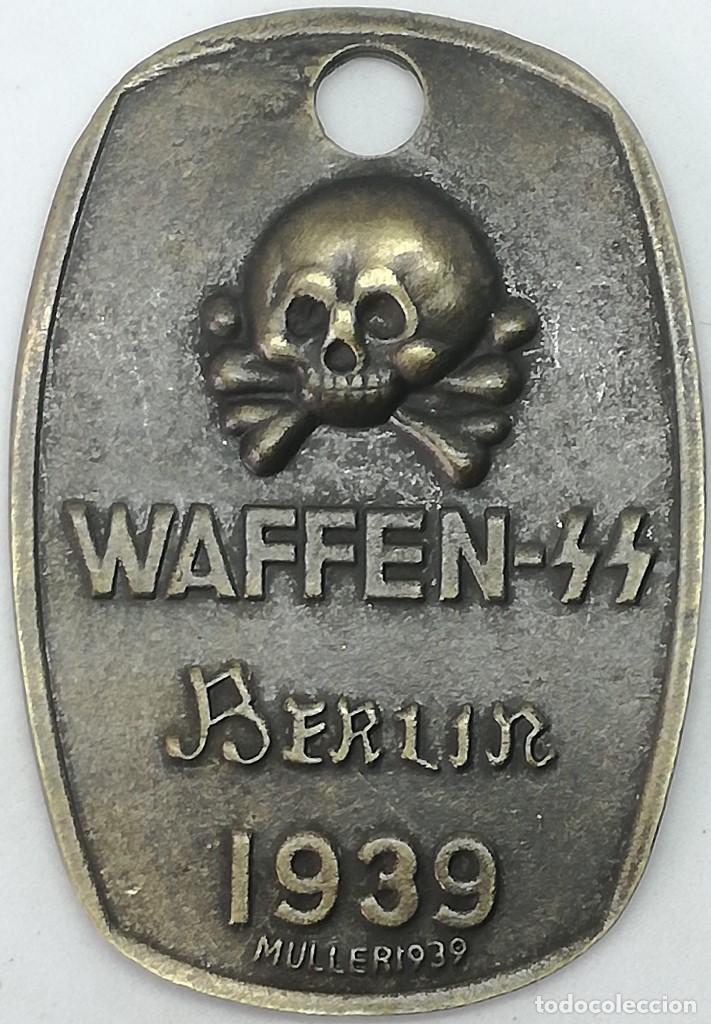 RÉPLICA CHAPA DE IDENTIFICACIÓN WAFFEN SS BERLIN 1939. ALEMANIA. 1939-1945. II GUERRA MUNDIAL (Militar - Reproducciones y Réplicas de Medallas )