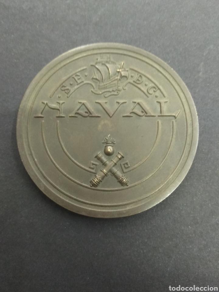 Militaria: PLACA MEDALLA MOTORES 1.000.000 DE B.H.P. MARINOS NAVAL 1925 - 1966 ASTILLEROS BARCO - Foto 2 - 207600575