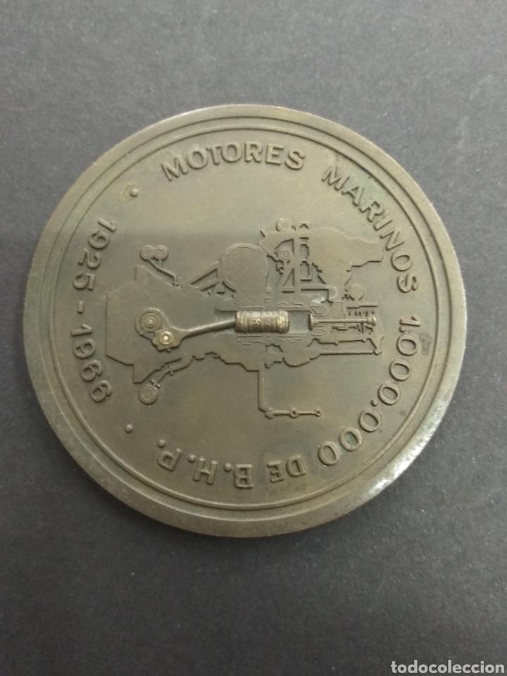 PLACA MEDALLA MOTORES 1.000.000 DE B.H.P. MARINOS NAVAL 1925 - 1966 ASTILLEROS BARCO (Militar - Medallas Españolas Originales )