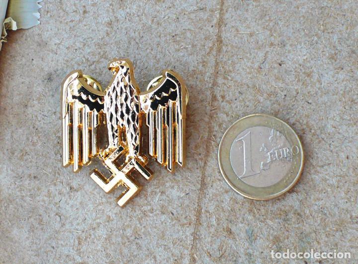 Militaria: TERCER REICH.insignia pin aquila. oro - Foto 4 - 207604571