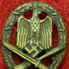 Militaria: HEER ASALTO GENERAL. ALLGEMENIES STURMABZEICHEN. CATEGORIA BRONCE. MEDIDAS: 55 X 43 MM. BUNTMETALL.. Lote 208067860