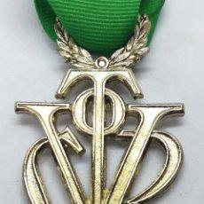 Militaria: RÉPLICA MEDALLA VÍCTOR DEL SEU. EXTRAORDINARIA DE ORO. 1952-1973. ESPAÑA. GENERAL FRANCO. AL MÉRITO. Lote 208401597