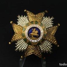 Militaria: ANTIGUA PLACA DE ORDEN DE SAN HERMENEGILDO PREMIO A LA CONSTANCIA MILITAR PLATA DORADA. Lote 208411532