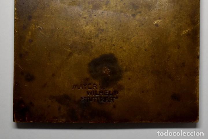 Militaria: PLACA DE BRONCE Y ESMALTES DEL XII PREMIO ANUAL AL DESEMPEÑO TURISTICO ALEMAN DE 1932.RARA - Foto 5 - 209791913