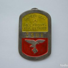 Militaria: WWII GERMAN BADGE DAIMLER-BENZ G.L. FRONT-REP. BETRIEB LUFTWAFFE. Lote 209805638