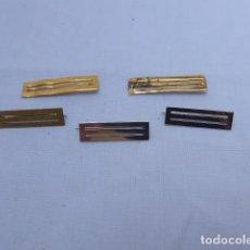 Militaria: * LOTE 5 ANTIGUO PRENDEDOR O PASADOR DE MEDALLA ESPAÑOLA. 1 DORADO Y 2 PLATEADO, 2 ROTOS. ZX. Lote 209879002