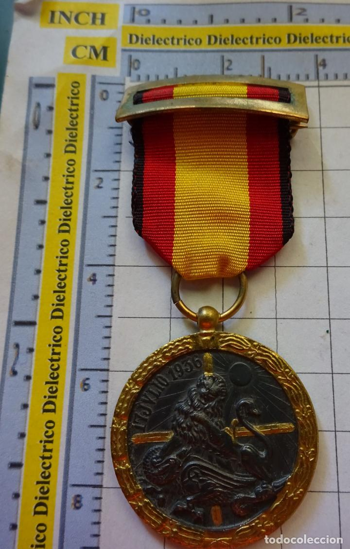 Militaria: MEDALLA MILITAR. CAMPAÑA GUERRA CIVIL 1936-1939. MODELO VANGUARDIA. MARCAJE INDUSTRIAS EGAÑA. - Foto 3 - 210022611