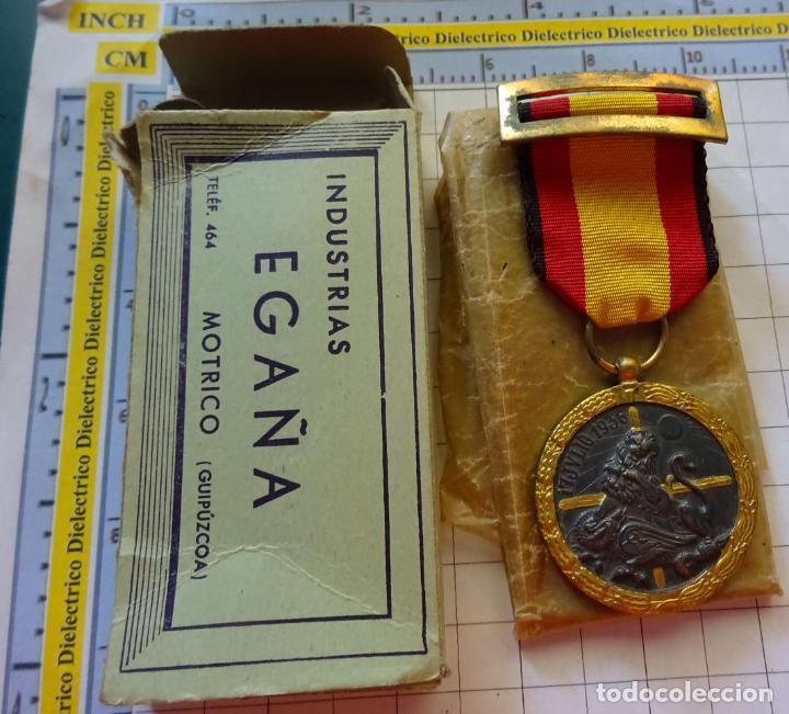 MEDALLA MILITAR. CAMPAÑA GUERRA CIVIL 1936-1939. MODELO VANGUARDIA. MARCAJE INDUSTRIAS EGAÑA. (Militar - Medallas Españolas Originales )
