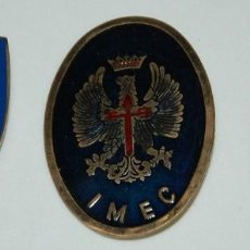 Militaria: LOTE DE TRES PLACAS MILICIAS UNIVERSITARIAS/IMEC. Lote 210125445