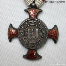 Militaria: AUSTRIA. CRUZ AL MÉRITO. SIN CORONA. VERDIENSTKREUZ. ÉPOCA IMPERIAL.. Lote 210316210