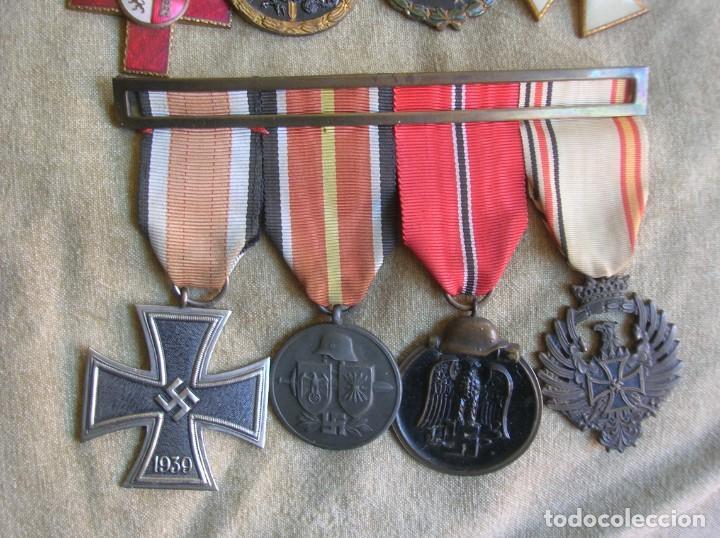 Militaria: PASADORES ORIGINALES DE UN DIVISIONARIO. DIVISION ESPAÑOLA DE VOLUNTARIOS. DIVISION AZUL. - Foto 2 - 210470286