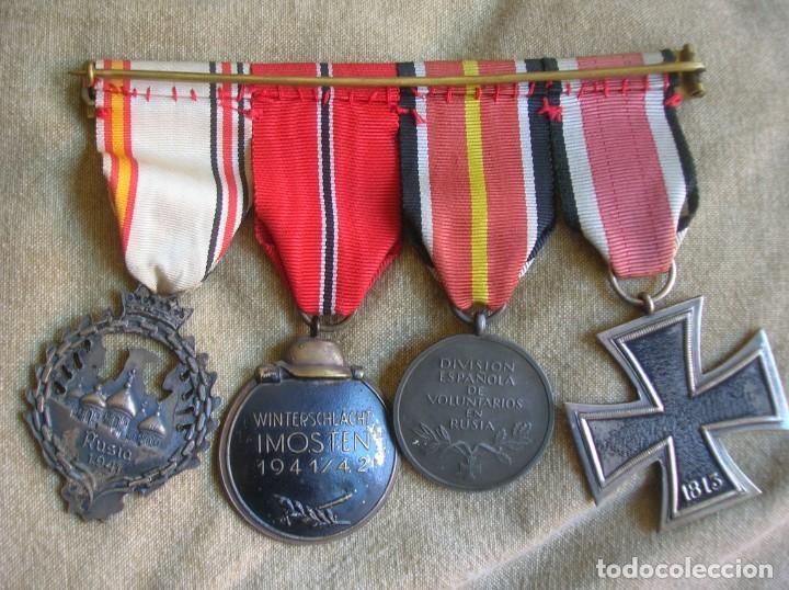 Militaria: PASADORES ORIGINALES DE UN DIVISIONARIO. DIVISION ESPAÑOLA DE VOLUNTARIOS. DIVISION AZUL. - Foto 4 - 210470286