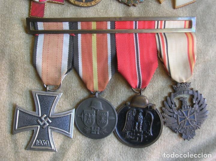 Militaria: PASADORES ORIGINALES DE UN DIVISIONARIO. DIVISION ESPAÑOLA DE VOLUNTARIOS. DIVISION AZUL. - Foto 5 - 210470286