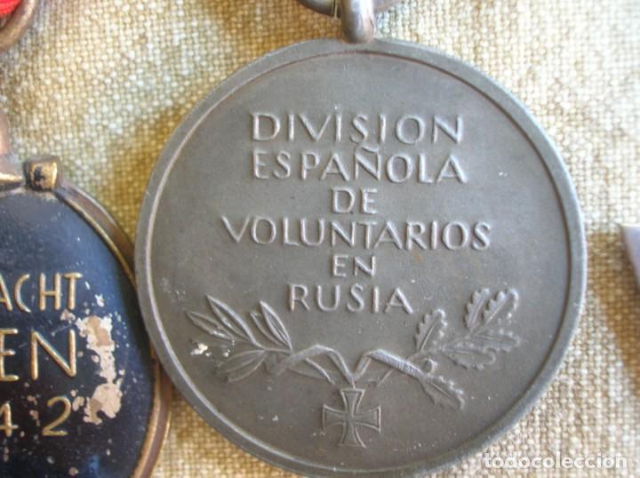 Militaria: PASADORES ORIGINALES DE UN DIVISIONARIO. DIVISION ESPAÑOLA DE VOLUNTARIOS. DIVISION AZUL. - Foto 17 - 210470286