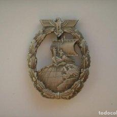 Militaria: WWII THE GERMAN BADGE KRIEGSMARINE AUXILIARY CRUISER. Lote 210525622