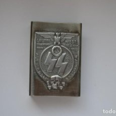 Militaria: WWI THE GERMAN HOLDER/COVER ON MATCHBOX WAFFEN SS. Lote 254591850