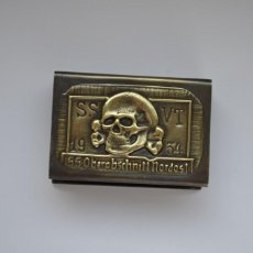 Militaria: WWI THE GERMAN HOLDER/COVER ON MATCHBOX 1934 SS - OBERABSCHNITT NORDOST. Lote 254591810