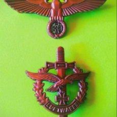 Militaria: LOTE PAREJA INSIGNIAS DE ÁGUILA ALEMANA NAZI DEUTSCHLAND, INSIGNIA DE CRUZ DEL EJÉRCITO MILITAR ALTA. Lote 210983394