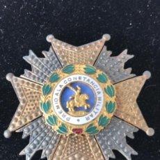 Militaria: CONDECORACIÓN DE PLATA-PLACA DE PECHO -PREMIO A LA CONSTANCIA MILITAR - CRUZ DE SAN HERMENEGILDO. Lote 211263051